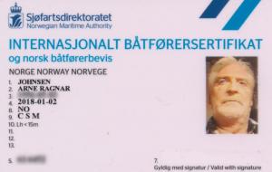 Viser bilde av sertifikat